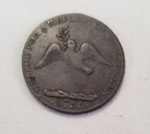 1795 anti slavery dove colonial halfpenny token c3