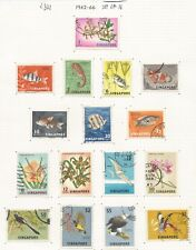 SINGAPORE THE 1962-6 SET OF 16 FINE USED ON ALBUM PAGE CAT £21