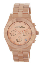 Marc By Marc Jacobs Women's Rose Gold Blade Crystal Accented Watch 0717