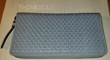 NEW COLE HAAN Bethany Woven Leather Continental Wallet in Zen Blue