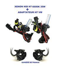 ADAPTATEUR + AMPOULES VW GOLF 6 XENON HID H7 35W 6000K NEUF