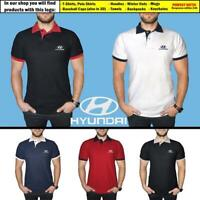 Hyundai Polo T Shirt COTTON EMBROIDERED Auto Car Logo Tee Mens Clothing Gift