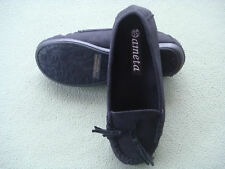 Ameta Lady Women Comfy Casual Slip On Winter Slippers House/Outdoor Shoes Sz 6