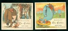 Hadley Clothier Trade Cards with Giant Shirt as Sail & Coat as a Tent