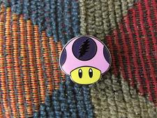 Dead Head Pink Princess Video Game Magic Mushroom Enamel Lapel Hat Pin