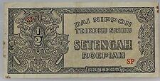 Nederlands Indie  Netherlands Indies 1/2 Roepiah 1944 Dai Nippon Teikoku Seihu
