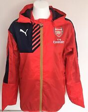 ARSENAL 2015/16 RED PERFORMANCE RAIN JACKET BY PUMA SIZE ADULTS SMALL BRAND NEW