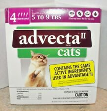 Advecta Ii flea for Cats 5 - 9 lbs 4 month supply New Sealed in Box