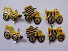 BRADS TRUCKS mixed pk of 8 cement mixer truck scrapbooking craft split pin