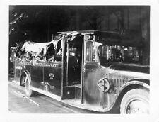 E186 RP 1920s INTERSTATE STREET RAILWAY BUS 205 WRECKED ROLL OVER 'N ATTLEBORO'