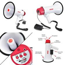 Pyle Megaphone Speaker PA Bullhorn W Built-in Siren - Adjustable Volume,...