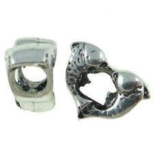 Wholesale Lot 25 Tibetan Silver Figural Zodiac Pisces Fish European Spacer Beads