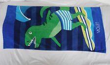 "Pottery Barn Kids Classic Dino Mini Beach Towel "" Violet"" Nwot"