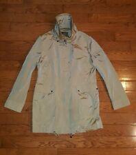 COLE HAAN Women's Sz Large Rain Coat Packable Jacket with Hood