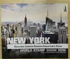 2016 New York World Stamp 2016 Excl Limited Ed Collectors Folio Skyline - Day
