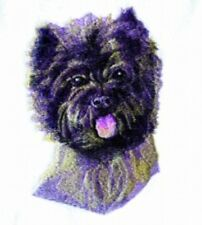 Embroidered Ladies Short-Sleeved T-Shirt - Cairn Terrier Bt3601
