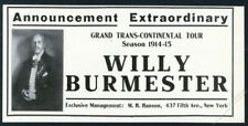 1914 Willy Burmester photo violin recital tour booking vintage trade print ad