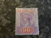 SEYCHELLES POSTAGE REVENUE STAMP SG8 96C LIGHTLY MOUNTED MINT