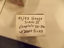 1991-92 NBA Hoops Basketball Series II Complete w/Draft Picks NM+ to MINT