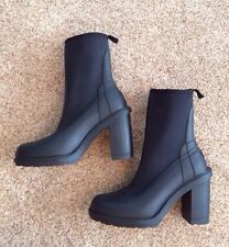 New Women's Hunter Heeled Scuba Ankle Rain Boot Bootie Black 10