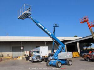 2013 Genie S-60X Diesel 60' Telescopic Boom Lift 4x4 Aerial Manlift bidadoo