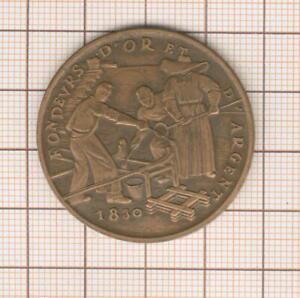 """médaille """"fondeurs d'or et d'argent"""" , visite au stand de la monnaie de Paris"""