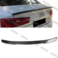 2012-2018 Audi A6 C7 Sedan 4dr Carbon Fiber Rear Trunk Spoiler Lip Style B