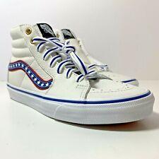 VANS SK8-Hi Leather Shoes Skate/Bmx  Men's US 6 Women's 7.5 USA Flag Colors