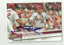 St. Louis Cardinals BRANDON MOSS  Signed 2017 Topps Series Card #89