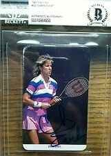 Becket Authenticated CHRIS EVERT signed 1987 Fax-Pax card AUTO Tennis