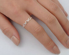 Silver Tiny Infinity Ring Sterling Silver 925 Plain Best Deal Jewelry Size 5