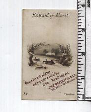 Antique Reward of Merit / AD Card Combo - John Wanamaker & Co.