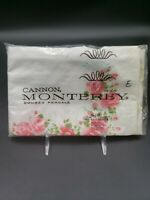 Vintage Cannon Monterey Combed Percale 100% Cotton Floral Pillowcases (2)