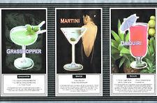 COCKTAILS MARGARITA MARTINI DAIQUIRI MANHATTAN GRASSHOPPER Wallpaper bordeR Wall