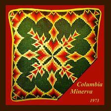 *VINTAGE BARGELLO* 1973 Columbia Minerva * MITERED GREEN BARGELLO * m. bOYLES
