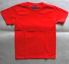 Camiseta sencillo rojo, 100 % algodón, talla S