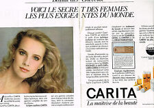 PUBLICITE ADVERTISING  1982   CARITA   beauté des cheveux  (2 pages)