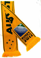 RUGBY UNION WORLD CUP 2011 AUSTRALIA WALLABIES GOLD AND GREEN SUPPORTER SCARF