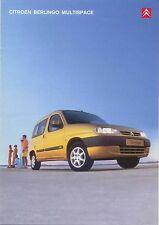 Citroen Berlingo Multispace 1.4i 1.6i 1.9D 2001-02 Original UK Sales Brochure
