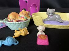 Vintage Littlest Pet Shop Mommy Cats & Baby Kittens w/ Accessories by Kenner