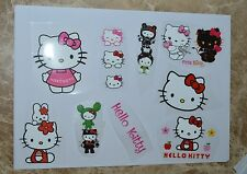 10x Hello Kitty Iron On Transfer Glitter DIY Sticker Hot Chart T-shirt Fabric