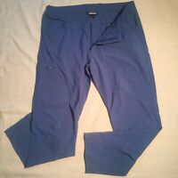 Classic Patagonia Mens 36 Trail Pants 36x32 11oz Blue Nylon Blend Hiking Slacks