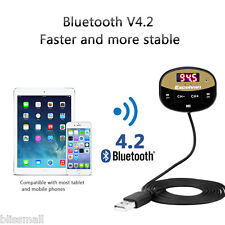 Bluetooth Car FM Transmitter Wireless Radio Adapter USB Charger MP3 Player APP