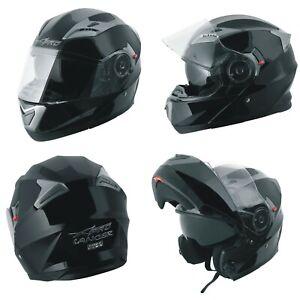 Motorcycle Flip Up Inner Sun Visor Jet Helmet Shield Apparel Modular Black