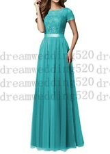 Formal Long Lace Wedding Dress Evening Party Ball Gown Prom Bridesmaid Dress6-30
