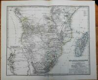 South Africa Table Bay Cape Colony Boer Republics 1875 Petermann detailed map