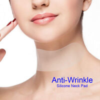 Skin Neck Care Pad Silicone Anti Wrinkle Aging Reusable Transparent Neck Pads