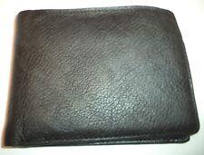 Perry Ellis Portfolio Leather Billfold Wallet ,Black