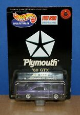 Hot Wheels Limited Edition Series 1 1969 Plymouth GTX Purple MOC '00 Hot Rod Mag