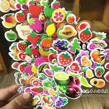 Random 8 sheet no repeat kids favor fruits and vegetables stickers Lot Xmas Gift